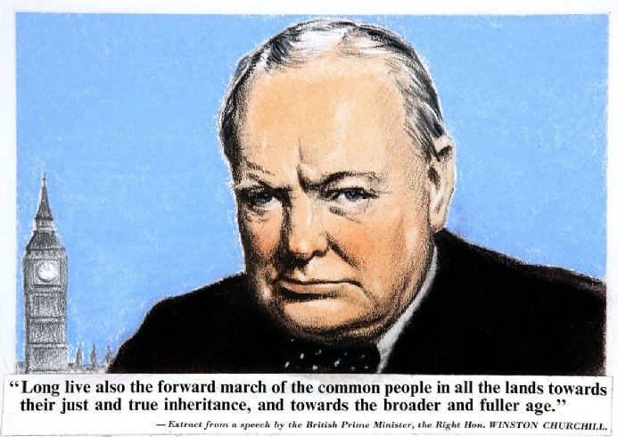 Prime Minister Winston Churchill Speech Extract. Quote Print/Poster. Sizes: A4/A3/A2/A1 (00914)